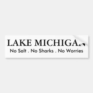 Autocollant De Voiture Le lac Michigan - humour
