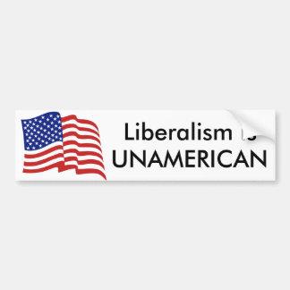 Autocollant De Voiture Le libéralisme est UNAMERICAN