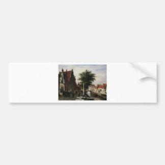 Autocollant De Voiture Le long du canal par Cornelis Springer