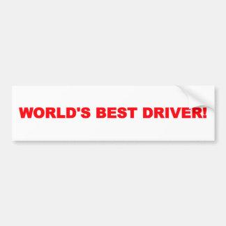 Autocollant De Voiture Le meilleur adhésif pour pare-chocs du conducteur