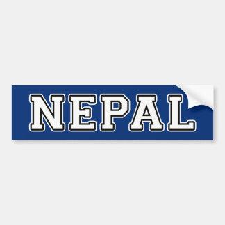 Autocollant De Voiture Le Népal