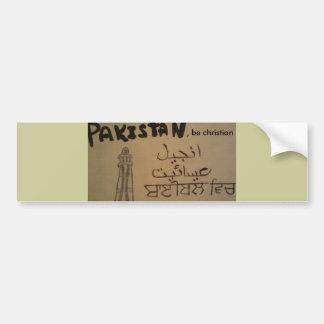 Autocollant De Voiture Le Pakistan, soit adhésif pour pare-chocs chrétien