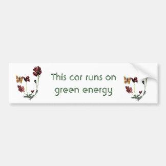 Autocollant De Voiture Le pavot de papillon fleurit l'art d'Eco
