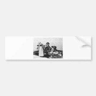 Autocollant De Voiture Le plus mauvais est de prier par Francisco Goya