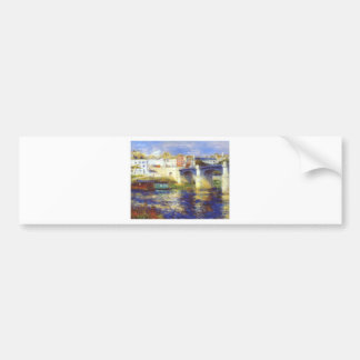 Autocollant De Voiture Le pont au chatou par Pierre-Auguste Renoir