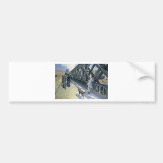Autocollant De Voiture Le Pont de L'Europe par Gustave Caillebotte