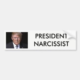 Autocollant De Voiture Le Président Narcissist anti Donald Trump