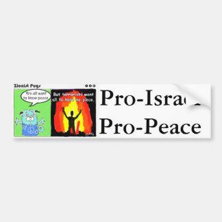 Autocollant De Voiture Le Pro-Israël, adhésif pour pare-chocs de Pro-Paix