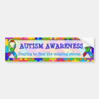 Autocollant De Voiture Le puzzle de sensibilisation sur l'autisme rapièce