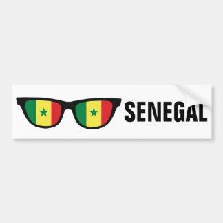 Autocollant De Voiture Le Sénégal ombrage le bumpersticker fait sur