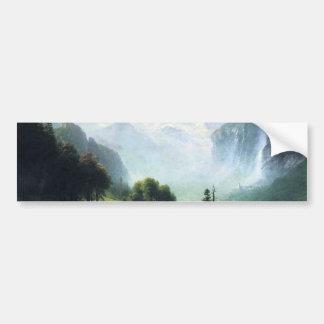 Autocollant De Voiture Le staubbach d'Albert Bierstadt tombe près du