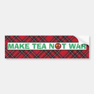 Autocollant De Voiture Le tartan font la guerre de thé pas