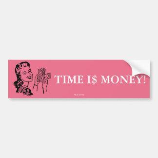 Autocollant De Voiture Le temps, c'est de l'argent adhésif pour