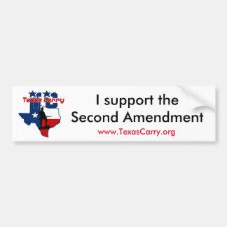 """Autocollant De Voiture Le Texas portent """"je soutiennent"""" l'adhésif pour"""