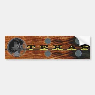 Autocollant De Voiture Le Texas sur le bois