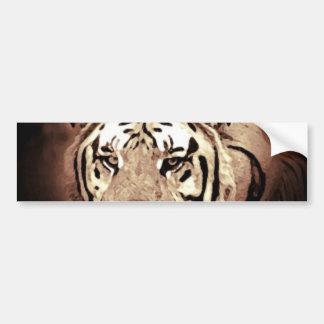 Autocollant De Voiture Le tigre en gros plan de sépia observe l'adhésif