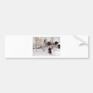 Autocollant De Voiture Le yard et le Lavage-House, Carl Larsson