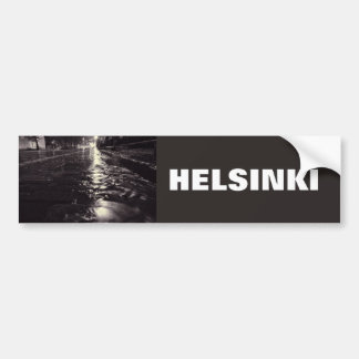 Autocollant De Voiture L'eau de pluie circulant sur les rues de Helsinki