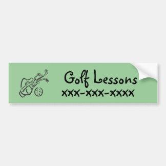 Autocollant De Voiture Leçons de golf