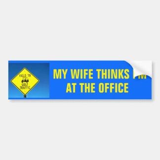 Autocollant De Voiture L'épouse pense que je suis (complétez le blanc) -