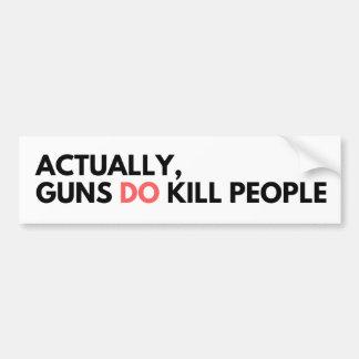 Autocollant De Voiture Les armes à feu tuent des personnes - adhésif pour