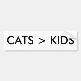Autocollant De Voiture Les chats sont meilleurs que l'adhésif pour