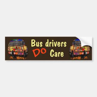 Autocollant De Voiture Les chauffeurs de bus s'inquiètent
