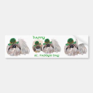 Autocollant De Voiture Les chiens de Pekingese célèbrent le jour de St