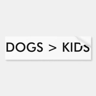 Autocollant De Voiture Les chiens sont meilleurs que l'adhésif pour
