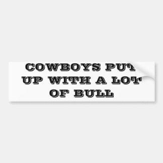 Autocollant De Voiture Les cowboys ont accepté beaucoup de Taureau