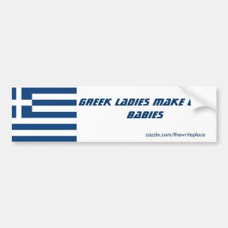 Autocollant De Voiture Les dames grecques font les bébés mignons