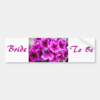 Autocollant De Voiture Les fleurs de la jeune mariée