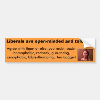 Autocollant De Voiture Les libéraux sont large d'esprit et tolérants-NOn
