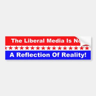 Autocollant De Voiture Les médias libéraux n'est pas une réflexion de