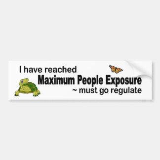 Autocollant De Voiture Les personnes maximum atteintes que l'exposition