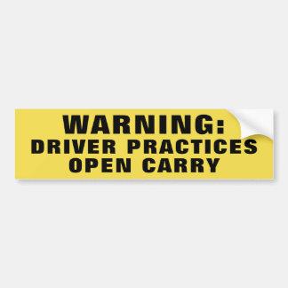 Autocollant De Voiture Les pratiques en matière d'avertissement de