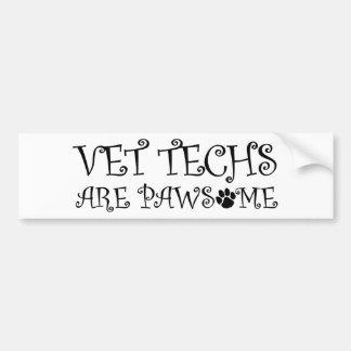 Autocollant De Voiture Les technologies de vétérinaire sont Pawsome