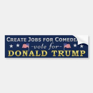 Autocollant De Voiture Les travaux drôles de Donald Trump pour des