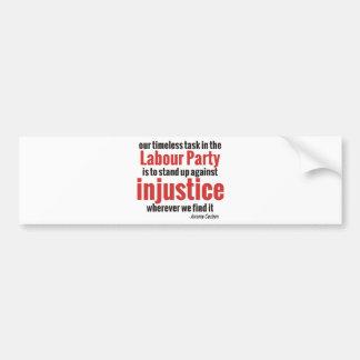 Autocollant De Voiture Levez-vous contre l'injustice