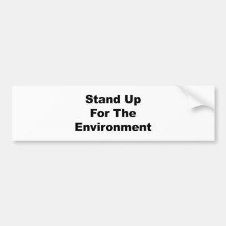 Autocollant De Voiture Levez-vous pour l'environnement
