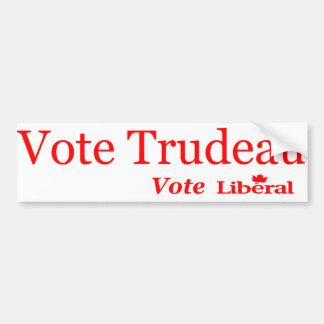 Autocollant De Voiture Libéral de vote de Trudeau de vote