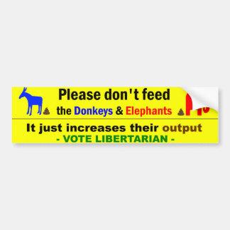 Autocollant De Voiture Libertaire de vote