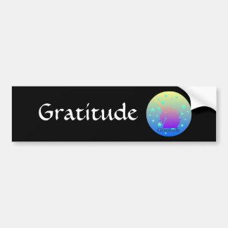 Autocollant De Voiture Licorne d'Ombre avec gratitude de mot