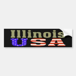 Autocollant De Voiture L'Illinois Etats-Unis ! Adhésif pour pare-chocs