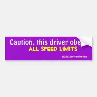 Autocollant De Voiture Limitation de vitesse de précaution