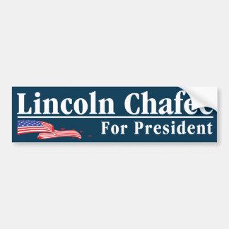 """Autocollant De Voiture """"Lincoln Chafee pour le président"""