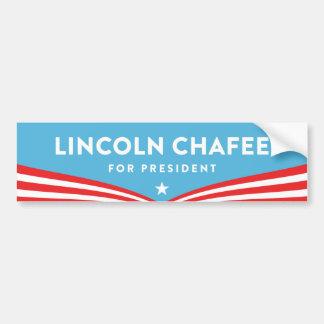 Autocollant De Voiture Lincoln Chafee pour le président