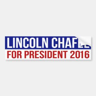 Autocollant De Voiture Lincoln Chafee pour le président 2016