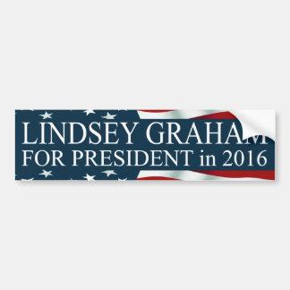 Autocollant De Voiture Lindsey Graham pour le président en 2016