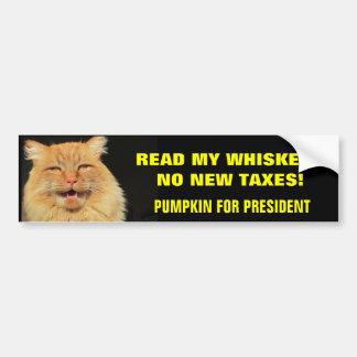 Autocollant De Voiture Lisez mes favoris, aucuns nouveaux impôts